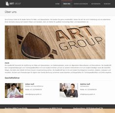This is the About Us page from Art Group GmbH.