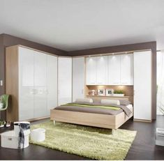 wardrobe above bed images - Furniture Design White Gloss Bedroom Furniture, Black And White Furniture, Master Bedroom Interior, Bedroom Closet Design, Bedroom Furniture Design, Bedroom Wardrobe, Bedroom Decor, Furniture Decor, Furniture Arrangement