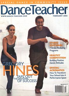 Iconic tap dancer Gregory Hines on DT's February 2002 cover