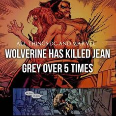 Wolverine and Jean Grey Comic Book Characters, Comic Character, Comic Books Art, Superhero Facts, Superhero Villains, Marvel And Dc Superheroes, Marvel Dc Comics, Marvel Funny, Marvel Memes