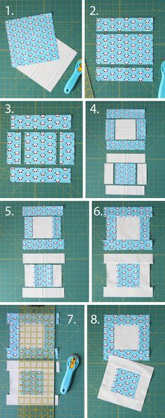 Easy Stack, Cut, and Sew Blocks with block and quilt size options