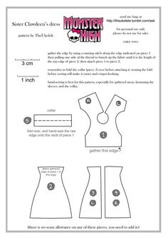 Monster High Sister Clawdeen Dress Pattern by ~TheUkelele on deviantART
