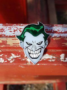 Stained Glass Brooch Joker DC comics Glass Art