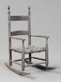 Acadian Ladderback Side Chairs Circa Early 19th Century
