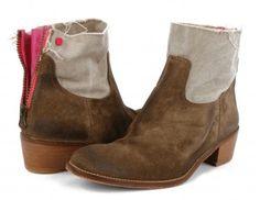 Love the colour accent | http://www.zadig-et-voltaire.com/eu/en/eshop-accessories/shoes/boots-woman-teddy-bicolore-beige.html