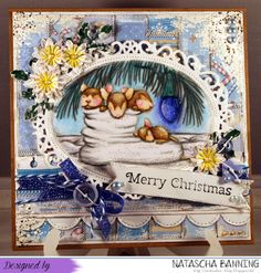 House Mouse Design Christmas Card for the curent #199 House Mouse and Friends Challenge Midway Reminder: http://nataschas-blog.blogspot.de/2015/07/house-mouse-and-friends-199-mid-way.html