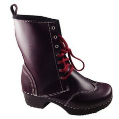 Edith Clog Boot, Bordeaux, On Sale | SuperiorClogs.com