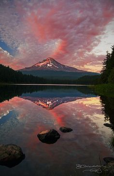 Mount Hood, Oregon - saw this from a distance while visiting my niece Sara.  It really is beautiful to look at.