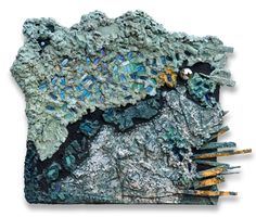 "Aga Osak ""Galaxy"" 125 x 96 cm, mixed media, relief"
