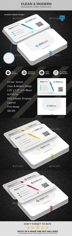 Buy Business Card Template by nisatoon on GraphicRiver. Round /square corner possible. Buy Business Cards, Square Business Cards, Business Cards Layout, Minimal Business Card, Modern Business Cards, Professional Business Cards, Business Card Design, Print Templates, Card Templates