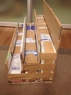 Cardboard Recycling, Cardboard Box Crafts, Cardboard Display, Scrap Paper Storage, Diy Storage Boxes, Baby Play House, Diy Cardboard Furniture, Craft Booth Displays, Diy Rangement