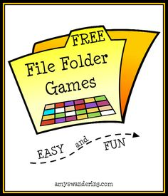 Free file folder games preschool folder games, file folder g File Folder Activities, File Folder Games, File Folders, Folder Games For Toddlers, File Folder Organization, Preschool Games, Preschool Learning, Teaching, Preschool Printables