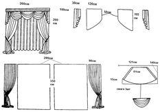 Вариант штор с ламбрекенами с тремя одинаковыми свагами