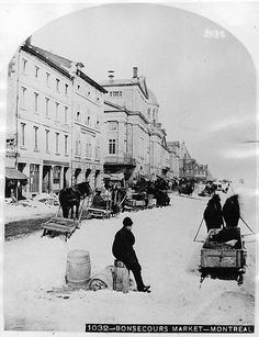 Bonsecours Market, Montreal, QC, about 1875 by Musée McCord Museum, via Flickr
