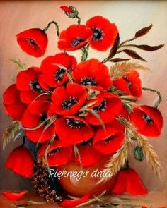 Good Morning Photos, Love Flowers, Art Pictures, Poppies, Bloom, Plants, Painting, Beauty, Type 3