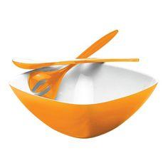 3 Piece Retro Salad Set in Orange