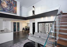 עיצוב פנים - לופט בקרית אונו   משרד אדריכלים ועיצוב פנים דורית סלע Divider, Loft, Open Spaces, Interior Design, Bed, Furniture, Home Decor, Nest Design, Decoration Home