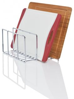 For chopping boards, tupperware lids, saucepan lids... Howards Storage World | Organiser Rack