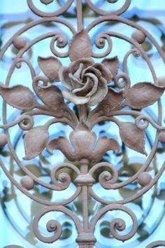 Beautiful ironwork railing.