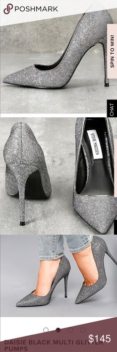 Steve Madden Daisy Multi Glitter Pumps Brand new in box! I ended up with two pairs so I'm trying to sell one. Open to offers! Steve Madden Shoes Heels