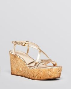 Kate Spade New York Metallic Wedge Sandals discount tumblr fast delivery cheap online outlet store cheap online discount classic outlet store Locations eZoG74
