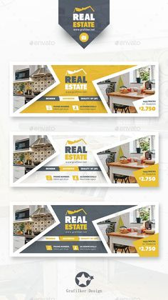 Buy Real Estate Cover Templates by grafilker on GraphicRiver. Real Estate Cover Templates Fully layered INDD Fully layered PSD 300 Dpi, CMYK IDML format open Indesign or later. Facebook Cover Design, Facebook Cover Template, Facebook Timeline Covers, Web Design, Web Banner Design, Real Estate Banner, Banner Design Inspiration, Facebook Banner, Design Poster