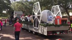 Great float by Full Sail at the winter park, park avenue Christmas parade. Included an ATAT Walker and Tie Fighter