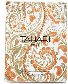Tahari Hayden Paisley Cotton Fabric Shower Curtain