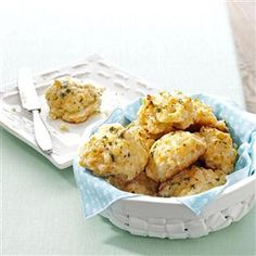 Makeover Cheddar Biscuits Recipe -Here's our crack at the never-ending biscuits from Red Lobster. Made from scratch with lighter ingredients, they're just as cheesy and buttery as the original. —Taste of Home Test Kitchen