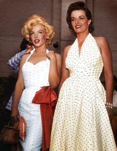Marilyn Monroe & Jane Russell. <3