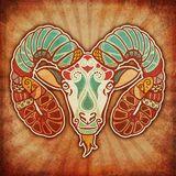 Grunge Zodiac - Aries Royalty Free Stock Image