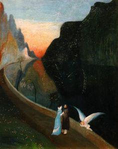 Tivadar Kosztka Csontváry | Meeting of Lovers | Hungarian, Post-Impressionist + Symbolist Painter (1853-1919)