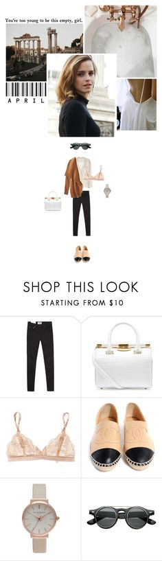 """""""You're too young to be this empty, girl."""" by miky94 on Polyvore featuring moda, Acne Studios, American Vintage, Emma Watson, Tyler Alexandra, STELLA McCARTNEY, Chanel, Topshop e Retrò"""