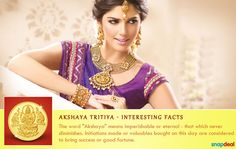 #DidYouKnow the valuables bought on this day bring success! http://www.snapdeal.com/offers/Akshayatritya_special