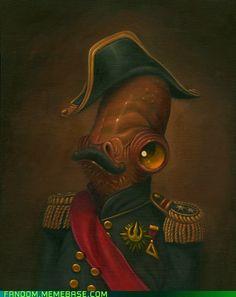 Star Wars: Magnitude - Admiral Ackbar by Steven Daily Admiral Ackbar, Starwars, Dark Vader, Science Fiction, Seattle, Art Gallery, Daily Star, Nerd Love, Geek Art