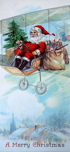 vintage postcard  Christmas Santa