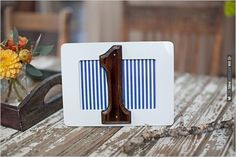 striped table numbers | CHECK OUT MORE IDEAS AT WEDDINGPINS.NET | #weddings #weddingseating #weddingdecoration