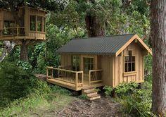 Cute tree house!!! modular cabin