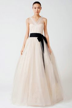 Wedding Dress with Sheer Straps