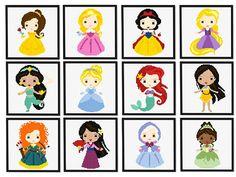 Set 4 Disney princess easy modern cross stitch pattern