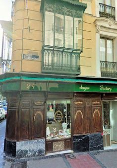 Traditional shop in Argensola street, Madrid, Spain