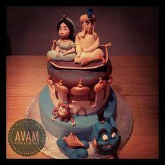 aladdin birthday cake Cake by Avamlisa