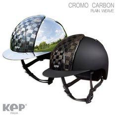 "CAP EQUITAZIONE CROMO CARBON ""PLAIN WEAVE"" di KEP ITALIA"