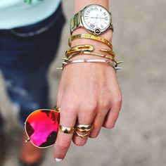 Sunglasses: Ray Ban c/o. Watch: Cartier. Nails: Deborah Lippmann 'Amazing Grace'. Rings: Cartier. Bracelet: Styleliner, Brady Pham. Atlantic Pacific