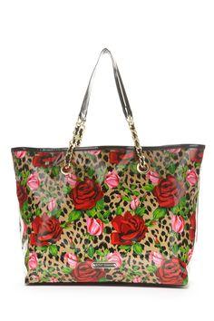 Betsey Johnson Wild Roses Tote Bag