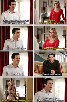 Modern Family, Phil and Claire Modern Family Memes, Modern Family Tv Show, Tv Show Quotes, Best Shows Ever, Favorite Tv Shows, Movie Tv, Laughter, Hilarious, At Least
