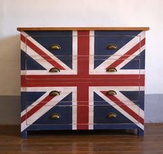 Cómoda british / Union Jack drawers