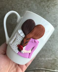 Girlfriend gift gift for girlfriend girlfriend mug funny girlfriend gift funny girlfriend mug girlfriend joke gag girlfriend gifts diy Diy Valentine Gifts For Boyfriend, Diy Gifts For Girlfriend, Valentines Diy, Funny Girlfriend, Polymer Clay Crafts, Diy Clay, Handmade Polymer Clay, Cup Decorating, Clay Art Projects
