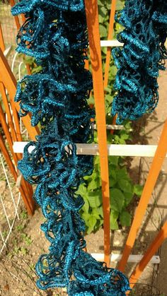 Blue Ruffle Scarf Blue Scarf Ruffle Scarf by EnchantingCreations7