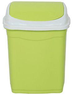 ARISTO 28 LTR,Plastic Swing Lid Dustbin (Green) ARISTO